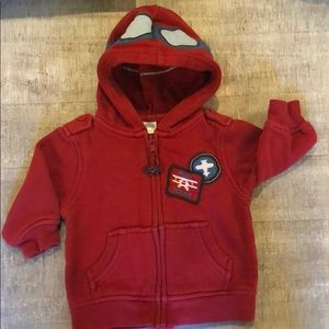 Gymboree 6-12 Month Zip Up Pilot Hoodie